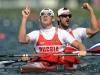 Юрий Постригай и Александр Дьяченко - гребля на байдарках, 200 метров
