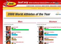 Лучший легкоатлет года 2008