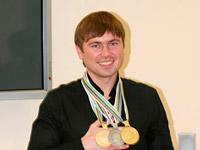 Биатлонист Артем Гусев