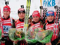 Эстафета - сборная Германии по биатлону