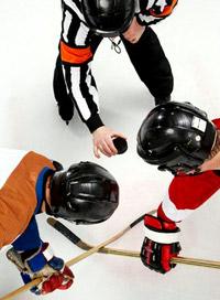 Хоккейное вбрасывание