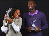 Усейн Болт и Саня Ричардс - лучшие легкоатлеты 2009 года