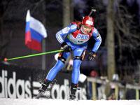 Российские биатлонистки выиграли золото в эстафете