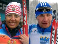 Петухов и Коростылева - Кубок мира по лыжным гонкам 2009/2010