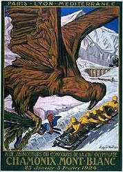 Эмблема первых Зимних Олимпийских игр - Шамони-1924