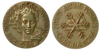 Медаль VII Зимних Олимпийских игр 1956 года
