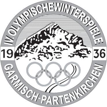 Четвертые Зимние Олимпийские игры 1936 года - эмблема