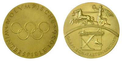 Медали четвертых Зимних Олимпийских игр 1936 года