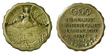 Лейк-Плэсид-1932 - медаль Олимпийских игр