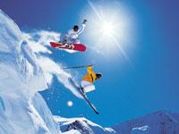 Сноуборд и горные лыжи