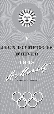 Пятые зимние Олимпийские игры 1948 года - эмблема