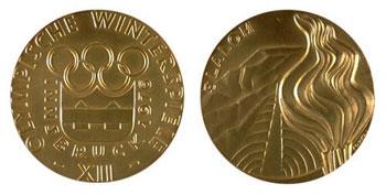 Медаль Зимних Олимпийских игр в Инсбруке 1976 года