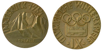 Зимние Олимпийские игры Инсбрук-1964 - медаль