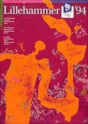 Плакат Зимних Олимпийских игр 1994 года в Лиллехаммере