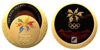 Медаль Зимних Олимпийских игр 1998 года в Нагано