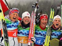 Норвежские лыжницы выиграли эстафету в Ванкувере