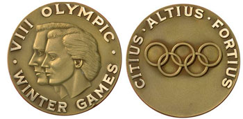 Скво-Велли 1960 - медали Зимних Олимпийских игр