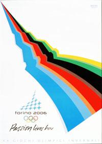 Плакат Зимних Олимпийских игр в Турине 2006 года