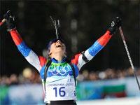 Ольга Зайцева выиграла олимпийский масс-старт