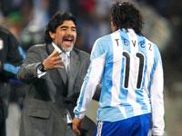 Диего Марадонна и Карлос Тевес
