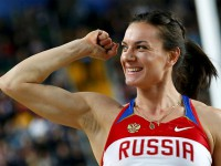 Елена Исинбаева на чемпионате мира 2012 года в Стамбуле