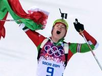 Биатлонистка Дарья Домрачева выиграла гонку преследования в Сочи