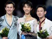 Денис Тен (Казахстан), Юзуру Ханю (Япония), Патрик Чан (Канада)