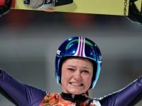 Олимпийской чемпионкой в прыжках с трамплина стала немка Карина Фогт