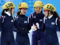Женская сборная Южной Кореи по шорт-треку выиграла олимпийскую эстафету