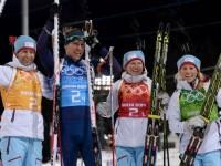 Бьорндален, Свендсен, Бергер, Экхофф - олимпийские чемпионы в смешанной эстафете
