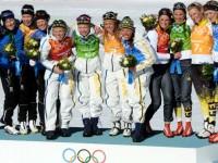Шведские лыжницы выиграли олимпийскую эстафету 4х5 км