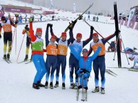 Призеры смешанной эстафеты на Паралимпийских играх в Сочи