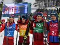 Андрей Ларьков, Александр Большунов, Алексей Червоткин и Денис Спицов