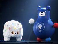 Талисманы сборной России - Медведь и Кот