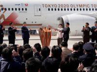 Олимпийский огонь доставлен в Японию